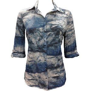 David Cline Crushed Lake Shirt Size Medium